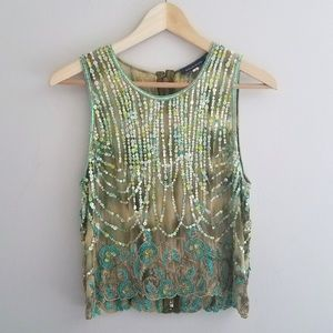 Boston Proper Sequin Top